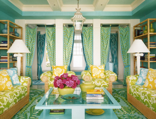 Living Room Color Blue Schemes