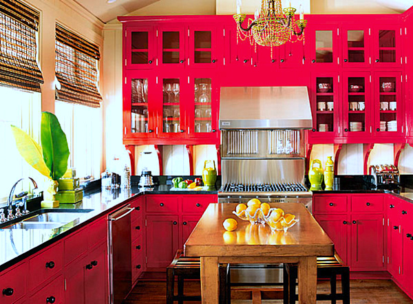 red-kitchen-interior-design-color